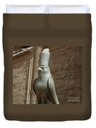Horus The Falcon At Edfu Duvet Cover by Bob Christopher