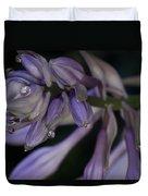 Hosta Blossoms With Dew Drops 6 Duvet Cover