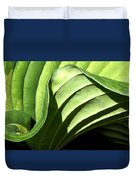 Hosta Leaf Duvet Cover