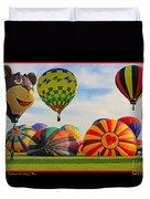 Hot Air Balloons Duvet Cover