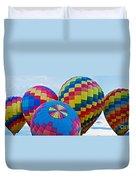 Hot Air Balloons Panorama Duvet Cover