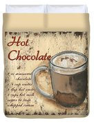 Hot Chocolate Duvet Cover