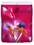 Hot Pink Lilly Up Close Duvet Cover