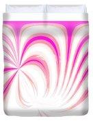 Hot Pink Swirls Duvet Cover