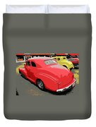Hot Rod Car Show Duvet Cover