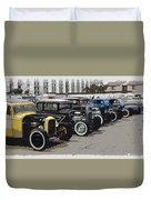 Hot Rod Row Duvet Cover