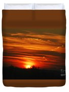 Hot Summer Night Sunset Duvet Cover