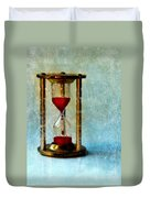 Hour Glass Dripping Blood Duvet Cover
