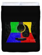 Hour Glass Guitar 4 Colors 1 Duvet Cover