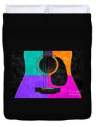 Hour Glass Guitar 4 Colors 2 Duvet Cover