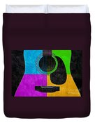 Hour Glass Guitar 4 Colors 3 Duvet Cover