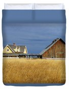 House And Barn Duvet Cover