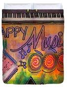 House Of Happy Music Duvet Cover