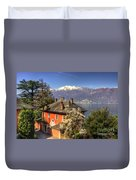 House On The Lake Front Duvet Cover