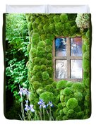 House With Moss Walls Duvet Cover