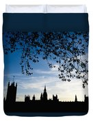 Houses Of Parliament Silhouette Duvet Cover