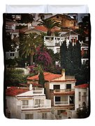 Houses On The Hill Nerja Duvet Cover by Mary Machare