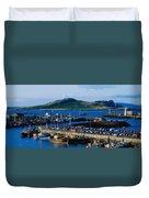 Howth Harbour & Irelands Eye, Co Duvet Cover