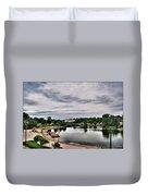 Hoyt Lake Delaware Park 0001 Duvet Cover