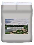 Hoyt Lake Delaware Park 0002 Duvet Cover