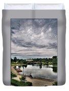 Hoyt Lake Delaware Park 0003 Duvet Cover