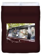 Hrh Prince Charles And Camilla Duvet Cover