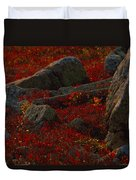 Huckleberry Bushes And Multi-hued Duvet Cover