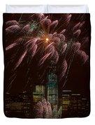 Hudson River Fireworks X Duvet Cover