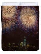 Hudson River Fireworks Xi Duvet Cover