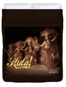 Hula Daguerreotype Duvet Cover