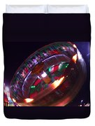 Human Roulette Wheel Duvet Cover