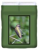 Hummingbird - Thinking Of You Duvet Cover