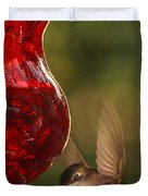 Hummingbird At The Feeder Duvet Cover