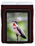 Hummingbird Card Duvet Cover