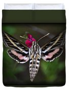 Hummingbird Moth - White-lined Sphinx Moth Duvet Cover