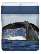 Humpback Tail Duvet Cover by Dave Fleetham