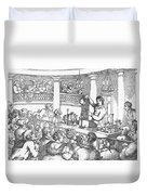 Humphrey Davy Lecturing, 1809 Duvet Cover by Science Source