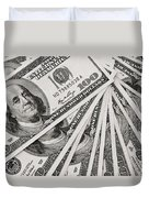 Hundred Dollar Bills Duvet Cover