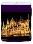 Hungarian Parliament Building Duvet Cover