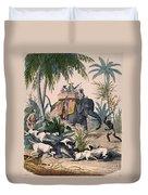 Hunting: Big Game, 1852 Duvet Cover