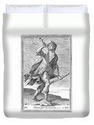 Hunting Horn, 1723 Duvet Cover