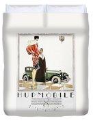 Hupmobile Ad, 1926 Duvet Cover