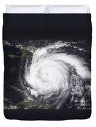Hurricane Dean In The Atlantic Duvet Cover