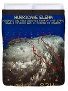 Hurricane Elena In 3-d Duvet Cover