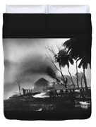 Hurricane In The Caribbean Duvet Cover