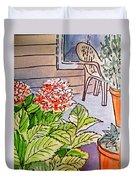 Hydrangea Sketchbook Project Down My Street Duvet Cover by Irina Sztukowski