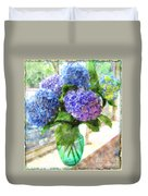 Hydrangeas In The Sun Duvet Cover