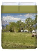 Hygiene Colorado Boulder County Scenic View Duvet Cover
