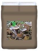 Hygrophorus Caprinus Mushrooms Duvet Cover
