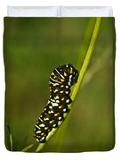 Hymenoptera Larva On Weed 1 Duvet Cover